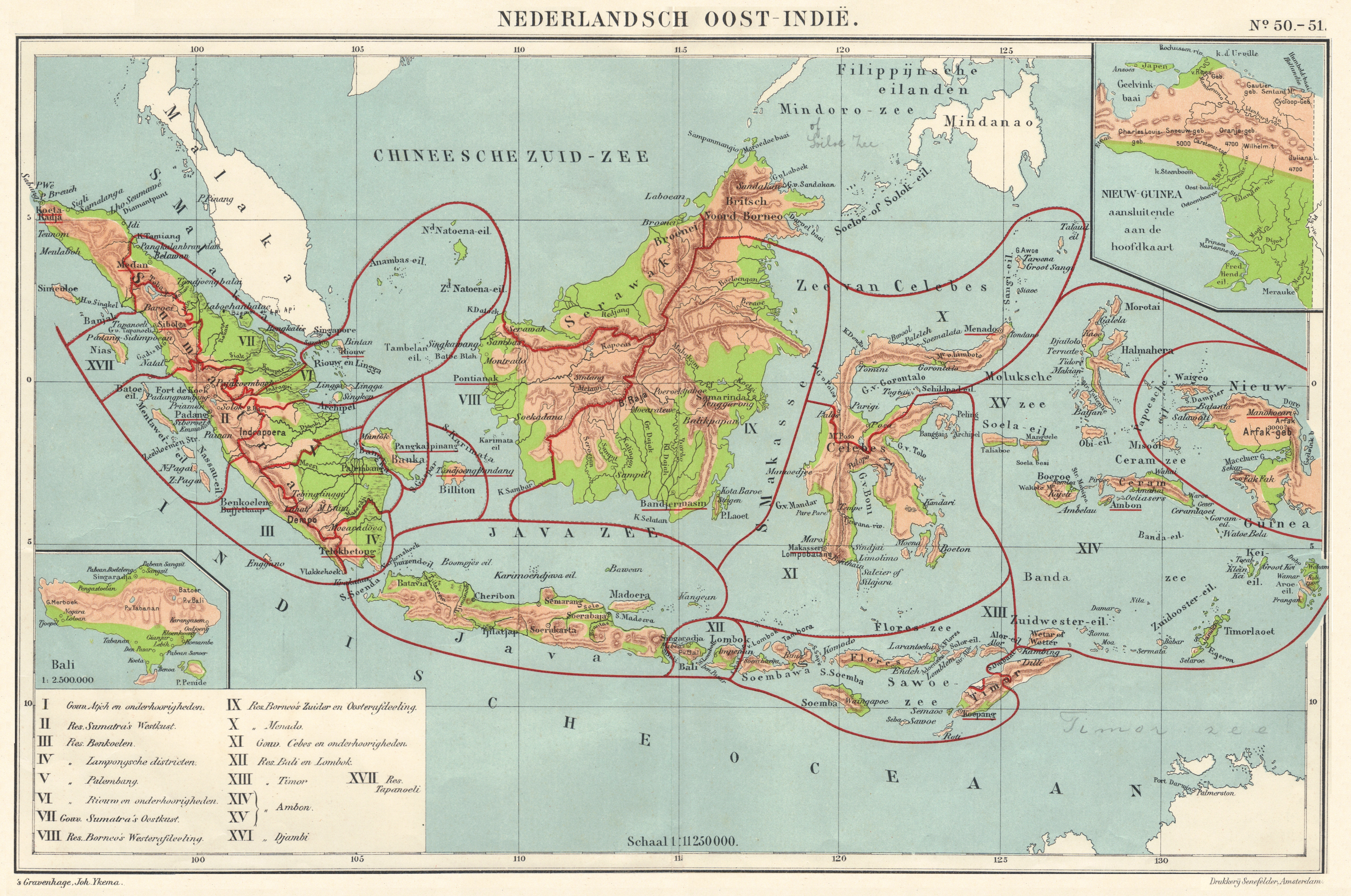 Historical Map Dutch East Indies